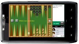 Playing Backgammon - Real Players Live on android phone