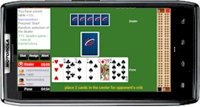 Playing GC Cribbage on android phone