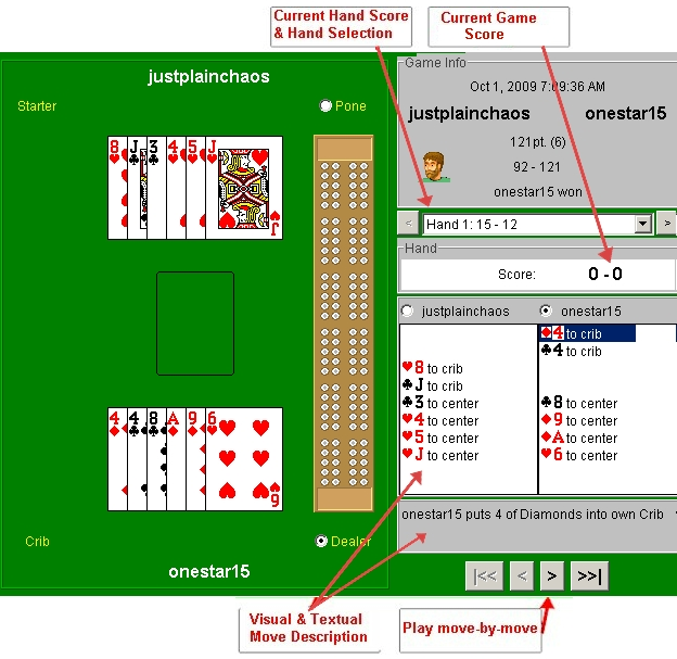 Cribbage Game Viewer - Example