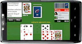 Playing Gin Rummy GC on android phone