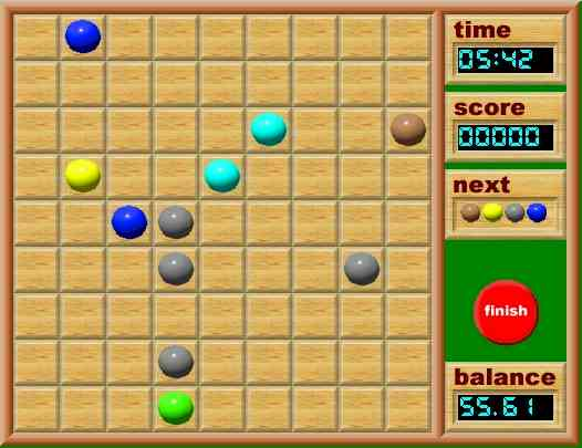 play free online games ball lines