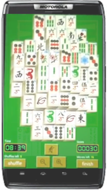 Playing Mahjong Solitaire on phone