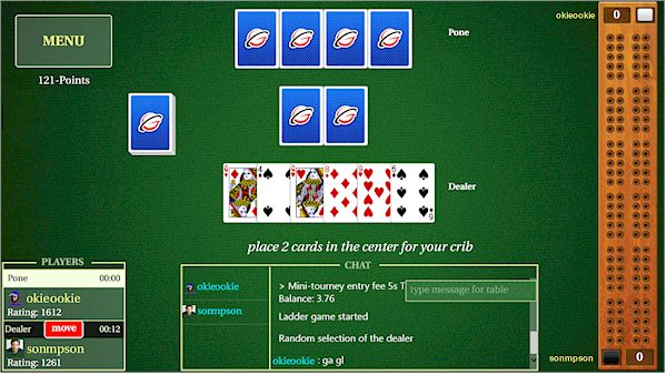 GameColony com - Cribbage Live Online - metro app for